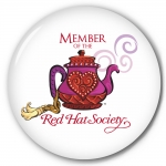 6pk Red Hat Society button artwork #S12