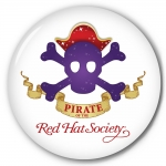 Red Hat Society button artwork #S15