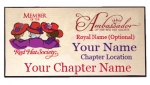 Red Hat Society Ambassador Name Badge