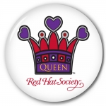 Red Hat Society button artwork #S10