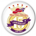 Red Hat Society button artwork #S16