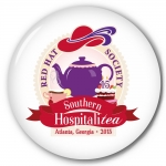 Red Hat Society button artwork #S18