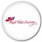 Red Hat Society button artwork #S19