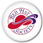 Red Hat Society button artwork #S20