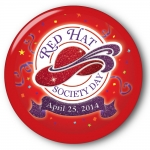 Red Hat Society button artwork #S23