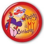 Red Hat Society button artwork #S24