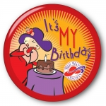 Red Hat Society button artwork #S26