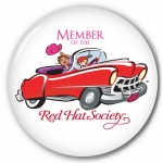 Red Hat Society button artwork #S8