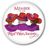 Red Hat Society button artwork #S9