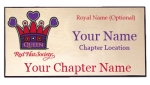 Red Hat Society Queen Name Badge