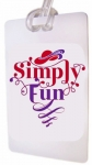 Red Hat Society Bag Tag Simply Fun Design