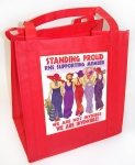 Red Tote Bag Standing Proud Design